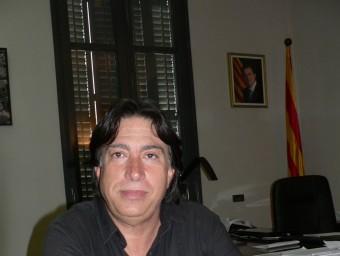 Enric Bagué a l'ajuntament. PAU LANAO