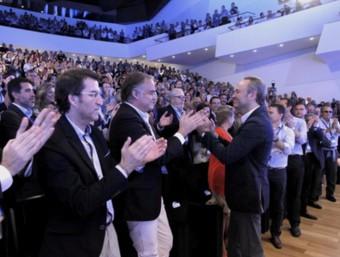 Plenari del XIII congrés del PP valencià, que ha reelegit Alberto Fabra com a president. EL PUNT-AVUI