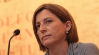 Carme Forcadell és la cara visible de l'Assemblea Nacional Catalana i la presideix des de la primavera del 2012.