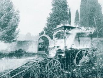 El carro funerari que es va cremar amb el gran incendi de l'any 1986 MIQUEL RUIZ