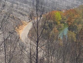 Alguns punts de la Muga necessiten neteges urgents després dels incendis per prevenir inundacions. R. ESTEBAN
