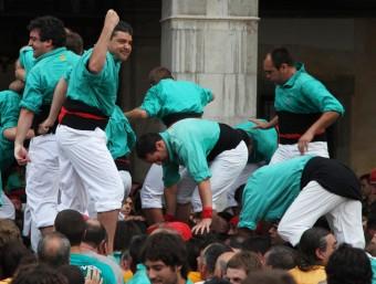 Els Castellers de Vilafranca en una diada aquest estiu ELISABETH MAGRE