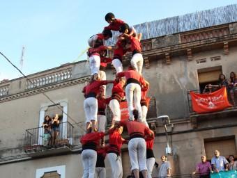 El 5 de 8 que els Castellers de Barcelona van aixecar dissabte a Vialfranca del Penedès, és el tercer que completa la colla en el seu historial ELISABETH MAGRE