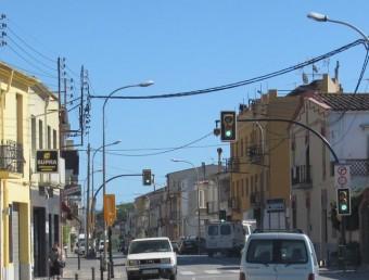 Punts de llum del carrer Panedes a l'antiga C-65 al seu pas pel municipi D. VILÀ