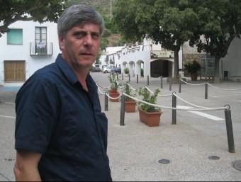 Joan Maria Roig a la plaça de la Selva de Mar. E. C