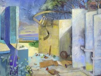 L'obra de l'artista que il·lustra el cartell de l'exposició MUSEU DE LA MEDITERRÀNIA