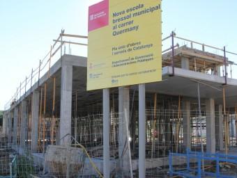 L'estructura nua de la futura escola bressol de Pals, que inicialment havia d'entrar en servei aquesta setmana E.A