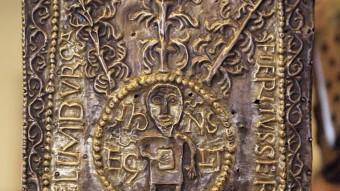L'Ara Portàtil de Sant Pere de Rodes una de les relíquies que exposa el Museu d'Art. . MANEL LLADÓ PEP IGLESIAS