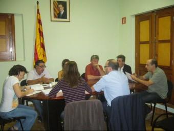 Una imatge del plenari d'ahir, que va rebutjar la moció d'Units per Terrades. M.VICENTE