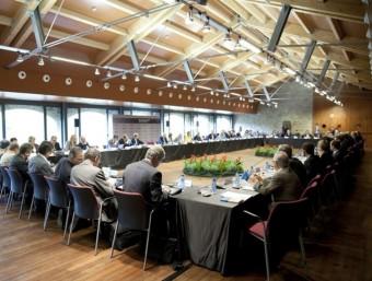 Empresaris reunits a la la jornada d'ESADE en Món Sant Benet, aquest dijous dia 27.  ESADE