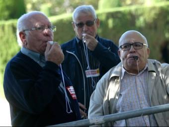 manifestació de pensionistes per la pèrdua de poder adquisitiu.  QUIM PUIG