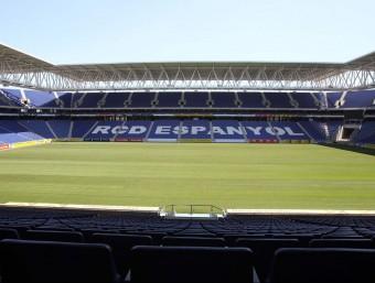 Panoràmica de l'estadi de Cornellà-El Prat, seu del partit de la selecció catalana EL 9