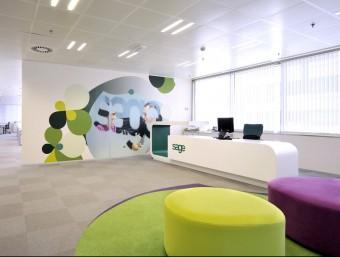 Les noves oficines de Sage al districte 22@ de Barcelona, que incorporem sistemes d'estalvi energètic,  ARXIU