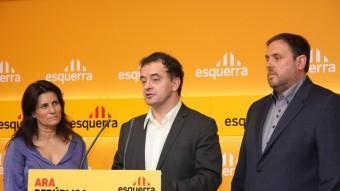Gemma Calvet, Alfred Bosch i Oriol Junqueras, l'octubre passat ACN