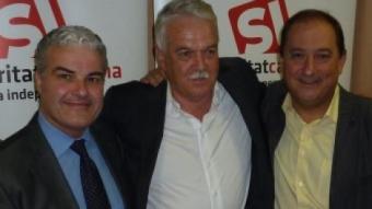 D'esquerra a dreta, Andreu Garriga, Toni Strubell i Pere Garriga J.T.