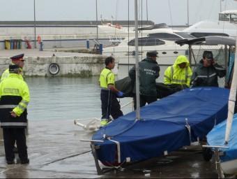 El cos de la dona va ser traslladat fins al port de Blanes ÒSCAR PINILLA