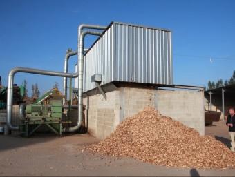 A la imatge, una planta de biomassa, un camp de l'energia amb possibilitats de créixer en els pròxims anys.  ARXIU