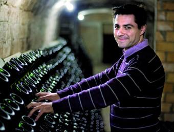 Francesc Domínguez és el fill dels fundadors d'El Xamfrà i actual gerent del celler, situat a Sant Sadurní d'Anoia.  ROBERT RAMOS