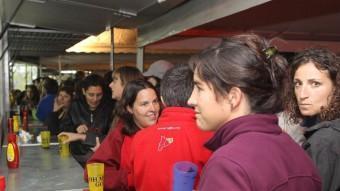 La Comissió de la Copa defensa la importància que tenen les entitats de barraques per la ciutat de Girona J.RIBOT / ICONNA