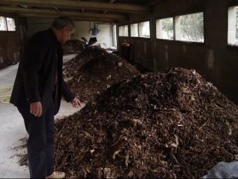 Imatge de la planta de compostatge de Boadella i Les Escaules, a l'Alt Empordà.  ARXIU