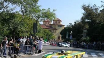 Els prototips, durant una de les sèries d'exhibició del Martini Legends, commemoració dels 75 anys del Circuit de Montjuïc. J.C
