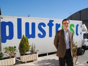 El director general de Supermercats Plusfresc, Xavier Esquerda, a les instal·lacions centrals de l'empresa a Lleida.  JOAN TORT