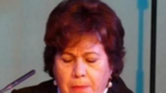 L'exdefensora del poble, Maria Luisa Cava de Llano, durant un acte a la Casa América ARXIU