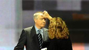 El socialista Pere Navarro, abans del debat de TV3