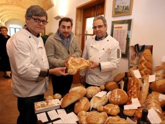 La presentació del pa va anar a càrrec de Robert Figueras o Jordi Roca. LLUÍS SERRAT