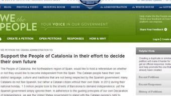 Captura de la pantalla de la petició aquest divendres al migdia, amb més de 20.000 adhesions