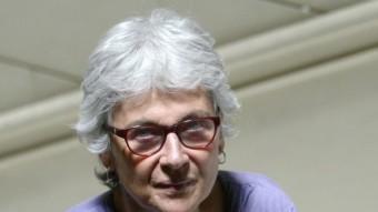 Muriel Casals, a la seu d'Òmnium Cultural de Barcelona QUIM PUIG