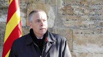El primer secretari del PSC, Pere Navarro, durant l'acte en record a Ernest Lluch, assassinat per ETA fa 12 anys ACN