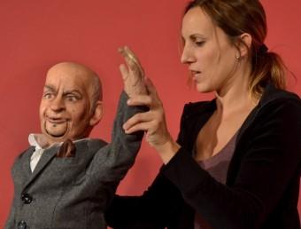 Laia de Mendoza clou l'obra amb 'Per a Loius de Funès' , de Novarina. MARIA G.ROVELLÓ