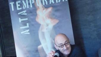 Salvador Sunyer, ahir a la presentació del balanç de Temporada Alta 2012, al Teatre Municipal de Girona X.C