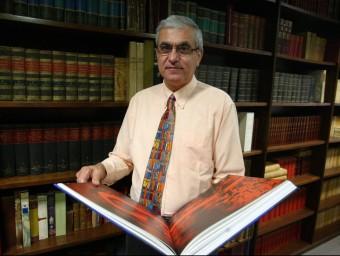 Albert Pelach, a la seu d'Enciclopèdia Catalana, de la qual és director general.  QUIM PUIG