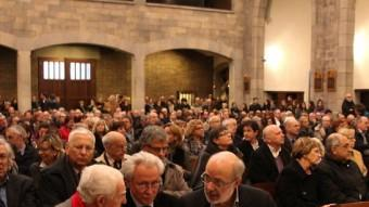 L'ofici es va celebrar a la església del Mercadal, a Girona, i va ser multitudinari JOAN SABATER