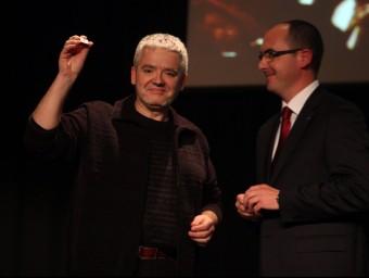 Màrius Serra en un moment de l'entrega J.RAMOS
