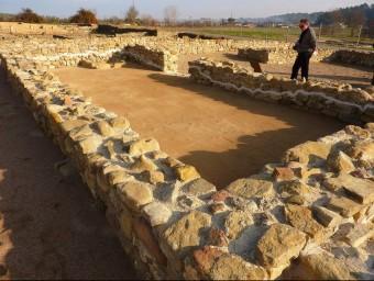 Una de les estructures visigòtiques , a la part que s'ha excavat els darrers anys. R. E
