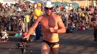 Armstrong en el triatló Superfrog, la seva última victòria del 2012 EL 9