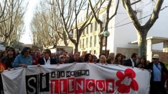 Manifestació a Palma per denunciar els atacs del govern Bauzá contra el català ARXIU