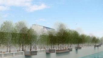 Una imatge virtual del projecte per remodelar el carrer Canalejas. EL PUNT AVUI