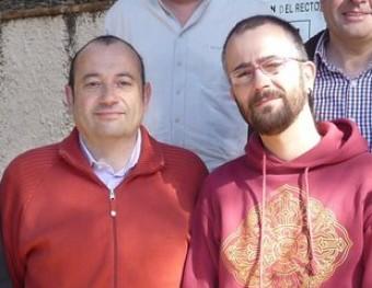 Pere Vega (PSC) i Lluís Perramon (CUP), en una imatge d'arxiu a Sant Cebrià de Vallalta. T.M