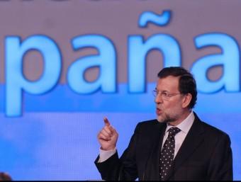 Mariano Rajoy ja va fer bandera de la unitat de mercat durant la campanya electoral.  ARXIU