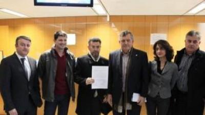 Els alcaldes socialistes a la Diputació d'Alacant. D. B