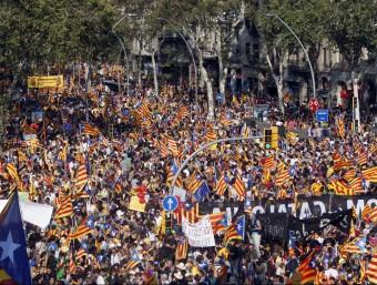 El procés sobiranista de Catalunya i mobilitzacions ciutadanes com la manifestació de la Diada han posat el país en l'òptica dels mitjans d'arreu del món.  ORIOL DURAN