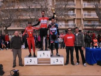 El podi de la cursa amb Francesc Moradell, Joan Esteve i Melcior Mauri EL 9