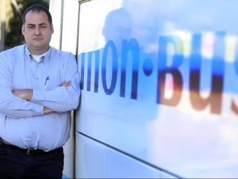 Francesc Xavier Monasterio és la quarta generació al capdavant de l'empresa familiar Mon-bus.  JUANMA RAMOS