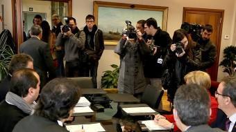 La comissió, abans de començar atenent la premsa gràfica M. LLADÓ