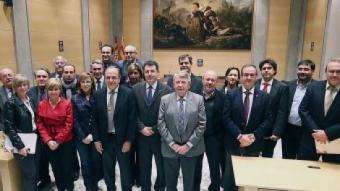 """Bona part de la família política """"electe"""" de la Diputació de Girona M. LLADÓ"""