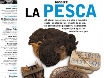 La portada del número 8 de la revista Alberes, amb el dossier de 40 planes dedicat a la pesca ALBERES